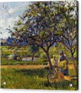 Pissarro: Wheelbarr., 1881 Acrylic Print