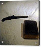 Pistol And Bible Acrylic Print