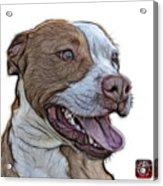 Pit Bull Fractal Pop Art - 7773 - F - Wb Acrylic Print
