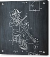 Pitch Fork Fiddle And Drum Patent 1936 - Chalk Acrylic Print