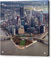 Pittsburgh 8 In Color  Acrylic Print by Emmanuel Panagiotakis