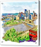Pittsburgh Aerial View Acrylic Print