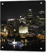 Pittsburgh At Night Acrylic Print