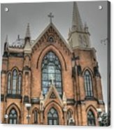 Pittsburgh Cathedral Acrylic Print by David Bearden