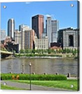 Pittsburgh From Just Outside Pnc Park Acrylic Print