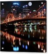 Pittsburgh Full Moon Acrylic Print