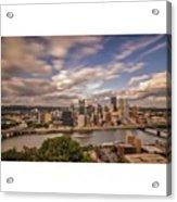 Pittsburgh Long Exposure Skyline. The Acrylic Print