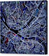 Pittsburgh Map 1 Acrylic Print