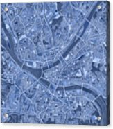 Pittsburgh Map Blue Acrylic Print