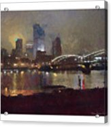 Pittsburgh Night Acrylic Print