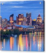 Pittsburgh Pano 13 Acrylic Print by Emmanuel Panagiotakis