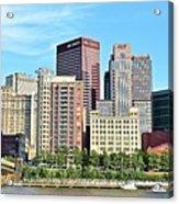 Pittsburgh Panorama June 2017 Acrylic Print