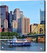 Pittsburgh River Cruise  Acrylic Print