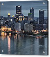 Pittsburgh Skyline 2 Acrylic Print by Wade Aiken