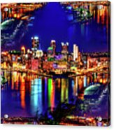Pittsburgh Skyline Art Acrylic Print
