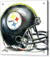 Pittsburgh Steelers Helmet Acrylic Print