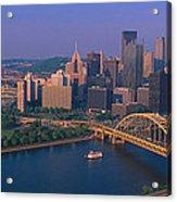 Pittsburgh,pennsylvania Skyline Acrylic Print