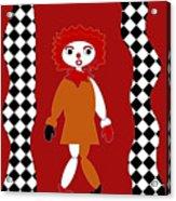 Pittypat Clown Acrylic Print