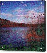 Pixel Lake Acrylic Print