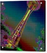Pixel Needle Acrylic Print
