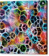 Pixelated Cubes Acrylic Print