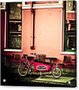 Pizza Delivery Bike Acrylic Print
