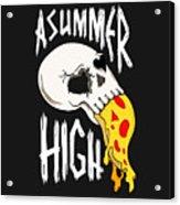 Pizza Skull Acrylic Print