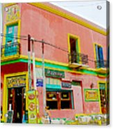 Pizzeria In La Boca Area Of Buenos Aires-argentina  Acrylic Print