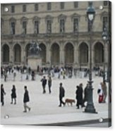 Place Du Carrousel At The Louvre Acrylic Print