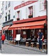 Place Du Tertre In Paris Acrylic Print