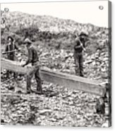 Placer Gold Mining C. 1889 Acrylic Print