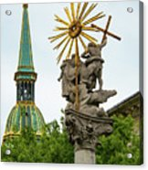 Plague Column And Saint Martin Cathedral Acrylic Print