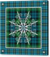 Plaid Snowflakes-jp3704 Acrylic Print