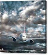 Plane In Storm Acrylic Print