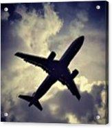 Plane Landing In London Acrylic Print
