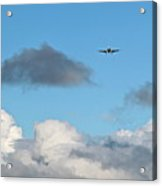 Plane Up In The Clouds Acrylic Print