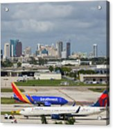 Planes By Fort Lauderdale Acrylic Print