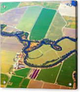 Planet Art Colorful  Midwest Aerial Acrylic Print
