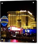 Planet Hollywood By Night Acrylic Print