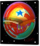 Planet Texas Acrylic Print