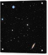 Planetary Nebula Messier 97 Owl Nebula And Galaxy Messier 108 In Constellation Ursa Major Acrylic Print