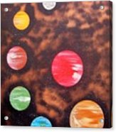Planets At Night Acrylic Print