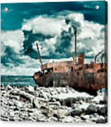 Plassey Wreck Acrylic Print