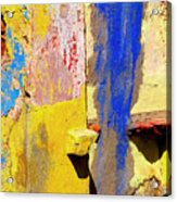 Plaster Abstract 12 By Michael Fitzpatrick Acrylic Print