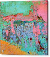 Plaster Abstract 8 By Michael Fitzpatrick Acrylic Print