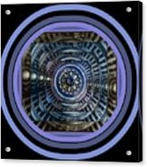 Plaster Art - Blue Circle Acrylic Print