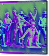 Plastic Army Man Battalion Pop Acrylic Print