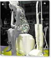 Plasticgirl In A Show-window Bruxelles - Bruxelles Acrylic Print by Yury Bashkin