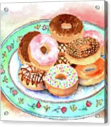 Plate Of Donuts Acrylic Print