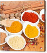 Plates Of Spices  Acrylic Print
